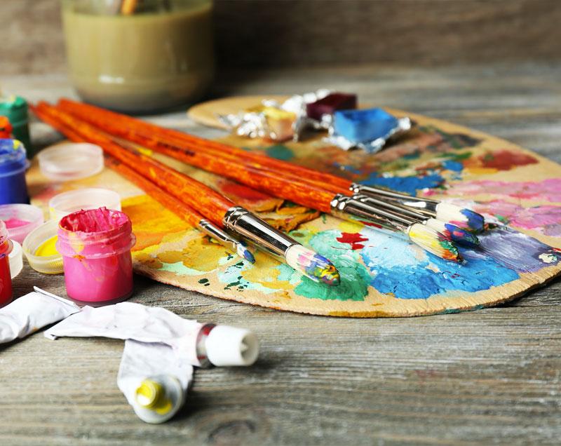 couleur peinture travail palette de couleur