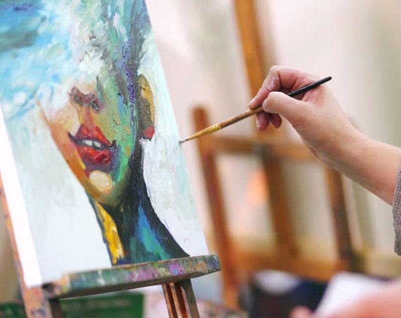 tableau travail peinture couleurs