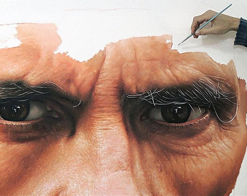 Exemple de peinture photo-réalistique
